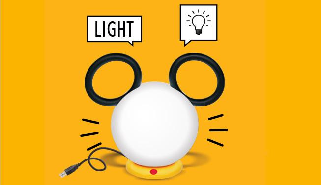 MickeyxFermob Lampe nomade